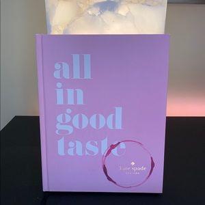 "kate spade ""all in good taste"" book"